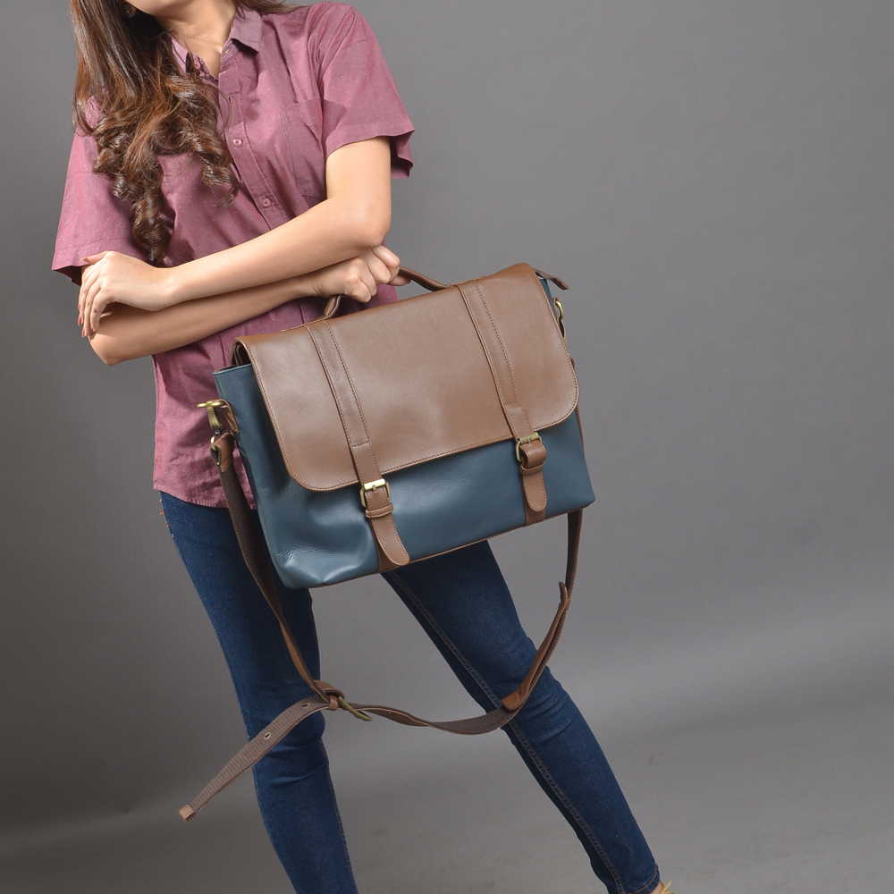 tas kulit messenger bag