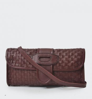 clutch bag in maroon
